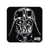 Logoshirt Star Wars Darth Vader Coaster 6er Set Untersetzer schwarz weiss - ca 10 cm x 10 cm