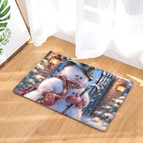 Rovinci_Teppich Weihnachtsdeko Hall Teppiche Weihnachten Home Fußmatten Küche Decor Badematte Badteppiche Rutschfester Badvorleger Rutschfest Matte Fußmatte Fußabtreter Fussmatte Schmutzfangmatte