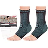 OBLIQ Ankle Brace Foot Compression Sleeve Supports For Joint Pain, Plantar Fasciitis Foot Socks With Arch Support...