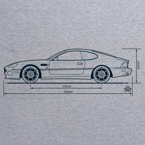PistonHeads DB7 T-Shirt, Damen Grau Meliert