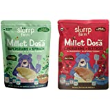 Slurrp Farm Millet Dosa Instant Mix, Supergrains Spinach And Beetroot, Natural And Healthy Food, 150g (Pack Of 2)