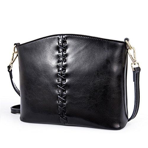 Pacchetto obliquo della signora/borsa monospalla piccola/semplice retro messenger bag-D E
