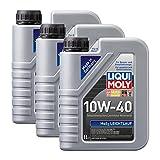 3x LIQUI MOLY 1091 MoS2 Leichtlauf 10W-40 Motoröl 1L