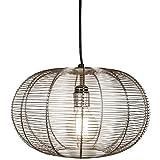 MAADES Design Vintage Pendelleuchte Lampe | Hängeleuchte Alana Silber Ø = 34cm, geeignet für E27 Leuchtmittel | Diese Deckenlampe ist für Ihre Küche, Wohnzimmer oder über den Esstisch