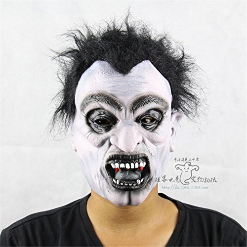 SQCOOL Halloween Maske Vivid Vampire Funny Ghost House Dress Up Lustige Horror Show Latex Make-up Ball (Schneiden Sie Halloween Masken Für Kinder)