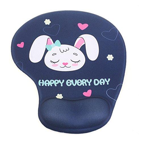 TUKA Handgelenkauflage Mouse pad Ergonomische, mit Gel Gefüllte Handgelenkunterlage, Tier Motiv Gel Mauspad Handauflage, mit Lustigem Cartoon Motiv, TKC5100 sleeprabbit
