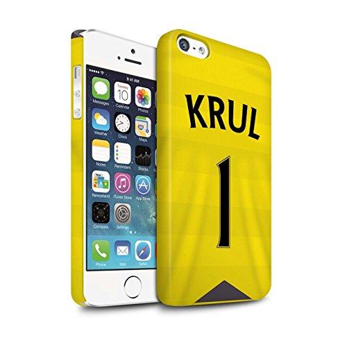 Offiziell Newcastle United FC Hülle / Matte Snap-On Case für Apple iPhone SE / Pack 29pcs Muster / NUFC Trikot Home 15/16 Kollektion Krul