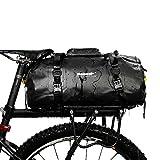 BAIGIO Borsa per Bicicletta Impermeabile Borsa Bici Portapacchi Borse Sportiva Borsone da Viaggio Multifunzionale Borsa da Palestra 20L (Nero)