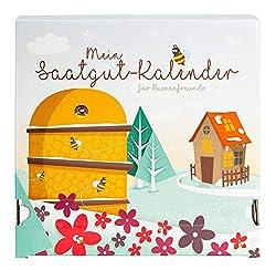 """Saatgut Adventskalender """"Bienen-Freund"""" - 24 Schachteln/Schubladen mit Samen"""
