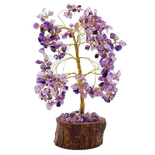 Harmonize Curación con cristales de amatista piedra árbol Reiki Gems Feng Shui Vastu Tabla Espiritual Decoración