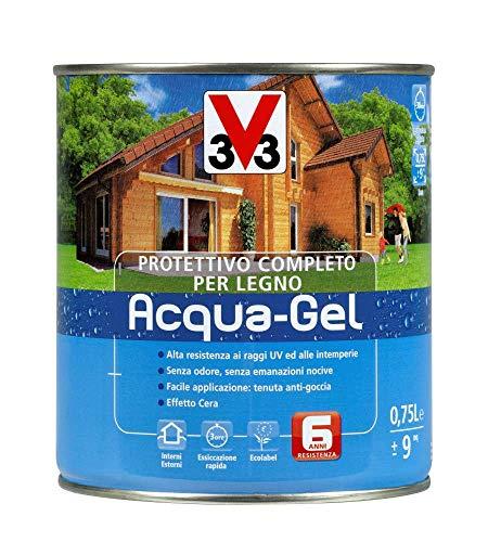 Protettivo completo legno acqua gel noce scuro 750 ml