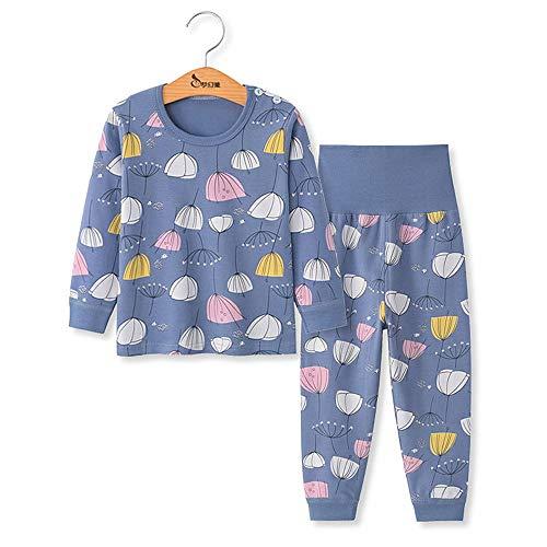 Chickwing Kinder Zweiteiliger Schlafanzug, Mädchen Jungen Unisex Langarm Hohe Taille Pyjama Pjs 100% Baumwolle 6 Monate-5 Jahre Höhe Größe 73 80 90 100 110 (3-4 Jahre Alt, Löwenzahn)