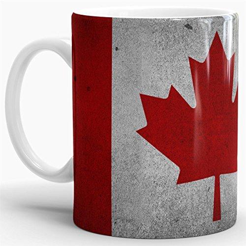 Preisvergleich Produktbild Tassendruck Flaggen-Tasse Canada Retro-Style - Kaffeetasse/Mug/Cup - Qualität Made in Germany
