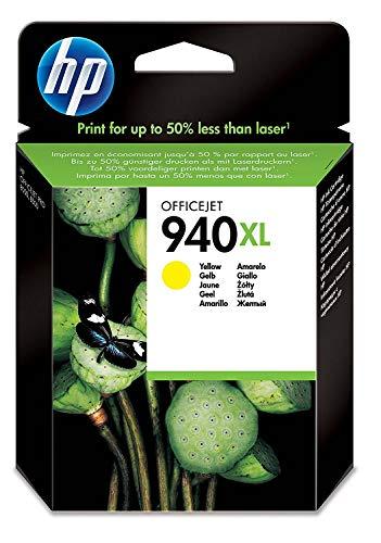 HP 940XL Gelb Original Druckerpatrone mit hoher Reichweite für HP Officejet Pro 8500, 8500A, 8000 (Plus Pro 8500 Hp Officejet)