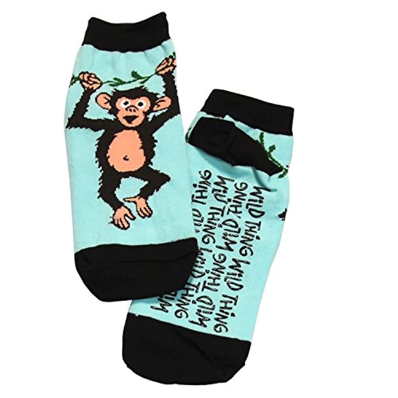 LazyOne Unisex Wild Thing Monkey Adult Slipper Socks One Size
