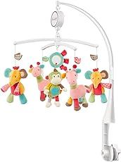 Fehn Musik-Mobile/Spieluhr-Mobile zum Lauschen & Staunen/Zum Befestigen am Bett für Babys von 0-5 Monaten