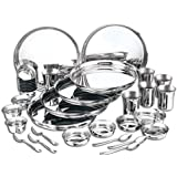 Naisha 36 Pcs Rajwada Dinner Set, Stainless Steel