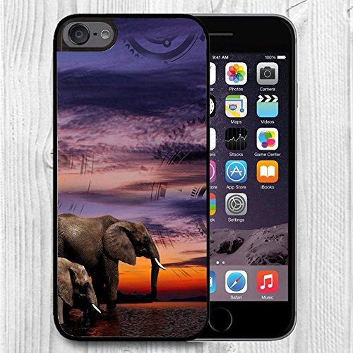 Für Ipod Touch Fall, iPod 6Schwarz Fall, ftfcase Fall TPU Gummi Gel-Design für Apple iPod Touch 6. Generation-Kürbis Laterne, A00-50