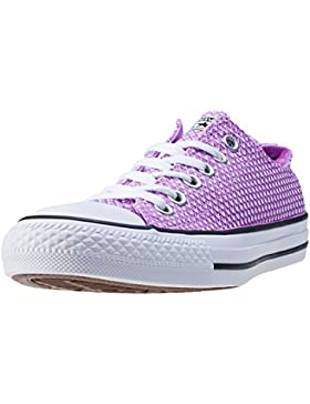 Converse Womens CT AS Ox Snake Fuchsia Woven Fuchsia Woven Trainers 36.5 EU