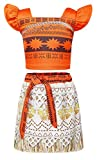 AmzBarley Girls Moana Costumes Adventure Outfit Skirt Set for Kids Cosplay Fancy Party - Best Reviews Guide