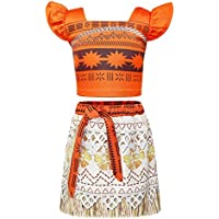 AmzBarley Moana Vaiana Disfraz Costume Niña Bebe 62885a29e76