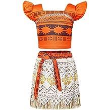 AmzBarley Moana Vaiana Disfraz Costume Niña Bebe 0fe10c5f0e19