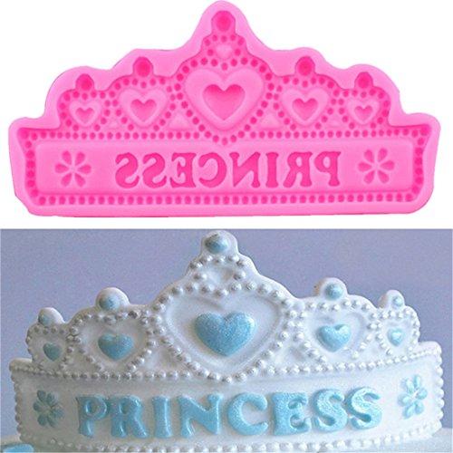 Krone Silikon Kuchen Form Seife Form Candy Kuchen dekorieren Schokolade fandont Mould Backen Tool ()