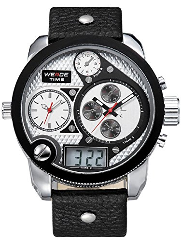 alienwork-dualtime-analogue-digital-watch-multi-function-lcd-wristwatch-xxl-oversized-leather-silver