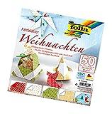 Folia 493/2020 - Blocco di carta per origami natalizi, 20 x 20 cm, 50 fogli