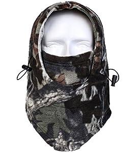 Acide tactique® Temps Froid polaire Cagoule Masque complet capuche camouflage–Airsoft Rockland en bois Motif camouflage