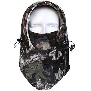Acid Tactical® Cold Weather Polar Fleece Camouflage Balaclava Full Face mask hood Airsoft - Rockland Wood Camo