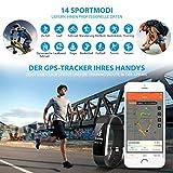 Mpow Fitness Armband mit Pulsmesser,Wasserdicht IP67 Smartwatch Fitness Uhr Pulsuhren Fitness Tracker Aktivitätstracker Schrittzähler Uhr für Damen Herren Anruf SMS Beachten für iPhone Android Handy - 3