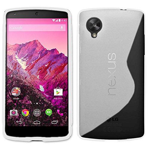 ebestStar - Funda LG Nexus 5 E980 Carcasa Gel Silicona Gel TPU Motivo S-línea, S-Line Case Cover, Transparente [Aparato: 137.84 x 69.17 x 8.59mm, 5.5'']