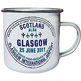 Nuevo Glasgow Aeropuerto Sello Retro, lata, taza del esmalte 10oz/280ml l506e