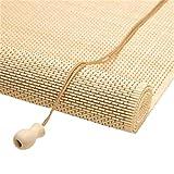 Tende a Rullo in Legno, Colore Naturale in bambù Veneziane Facili da installare, Adatte per Ambienti Interni ed Esterni (Edizione : Hook, Dimensioni : 130x140cm)