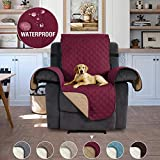 H.Versailtex Sofa Slipcovers for Furniture Sofa Protector Sofa Protector for Pets Recliner Protector, Seat Width Up to 22', No Slip Features to Prevent Stains/Protect from Pets – 22'' x 79'' Burgundy