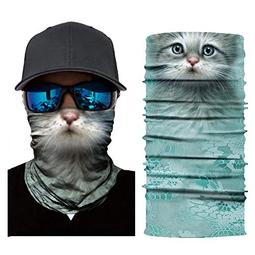 Xyqy 3d animal seamless maglione scaldacollo maschera maschera warmer shield sport ciclismo camping sci pesca bandana fascia sciarpa uomo donnaac013
