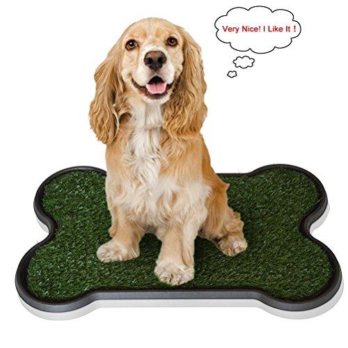 Mucky Welpen verwendbar Puppy Training Mats–2Layered system-synthetic Gras–Pfanne Tablett–Ideal für Hunde/Haustiere Verwendung. Pet Katzentoilette oder potty- 76,2x 50,8x 5,1cm - Coat Dog Treats