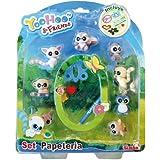 Yoohoo & Friend - Set de papelería y 8 muñecos, multicolor (Simba 5950595)