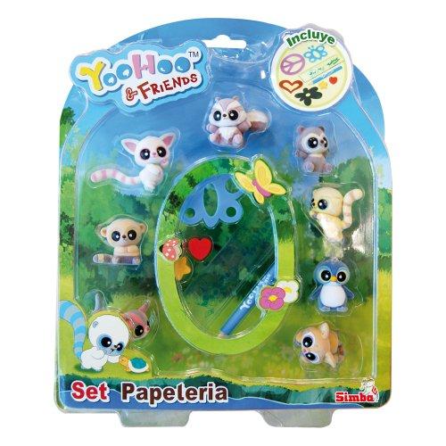 Yoohoo & Friend - Set de papelería y 8 muñecos, Multicolor (Simba...