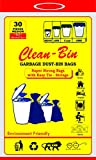 #8: Clean-Bin Premium(Blue) Garbage Bags(Medium) Size 19 inch X 21 Inch,Pack of 1 Roll(30 Bags)(Dustbin Bags/Trash Bags)