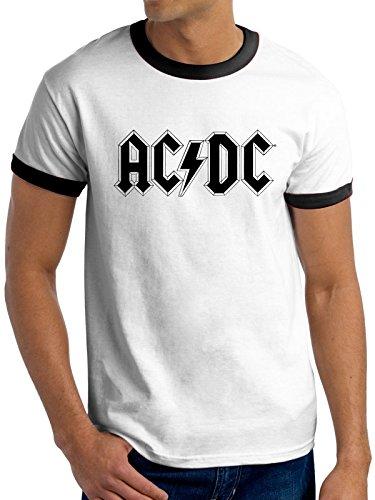 Revolution Ringer T-shirt (AC/DC - LOGO Ringer Shirt, Größe S)