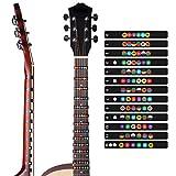 Autocollant pour Guitare, Guitare échelle Musicale Autocollant Manche de Guitare Manche Note Carte Frette Autocollant Décalques Lables Apprendre Touche