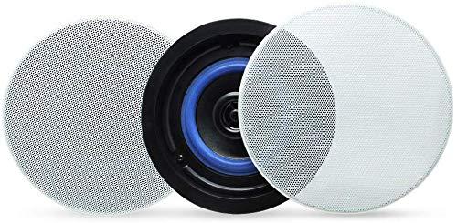 Herdio 2-Wege Bluetoothlautsprecher Deckenlautsprecher Einbaulautsprecher mit Bluetooth, 1 Paar Boxen (2 Speaker), Farbe: weiß, Decken-Einbaulautsprecher, Einbauboxen