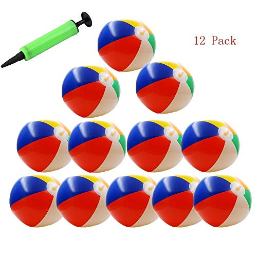 betwo 12 Pack pelotas de playa hinchable 10