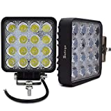 Safego 48WS-FL-2 12 V 48 W LED Lights Lampe, 2 Stück