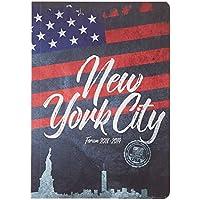 Exacompta 1842901E Forum Country Flag Agenda journalier broché Août 2018 à Juillet 2019 12 x 17 cm Visuel New York