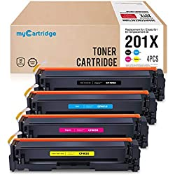 MyCartridge 4 kompatibel HP 201X CF400X CF401X CF402X CF403X Toner für HP Color Laserjet Pro MFP M277n MFP M277dw MFP M274n M252n M252dw (Schwarz/Cyan/Magenta/Gelb)