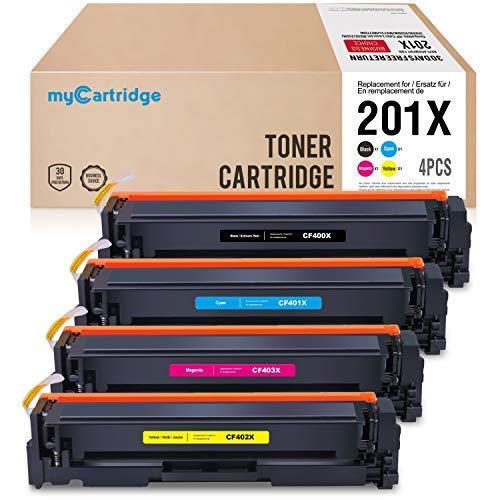 MyCartridge 4 kompatibel HP 201X CF400X CF401X CF402X CF403X Toner für HP Color Laserjet Pro MFP M277n MFP M277dw MFP M274n M252n M252dw (Schwarz/Cyan/Magenta/Gelb) -