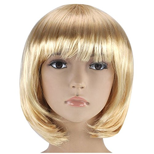 Ombre Hitzebeständige synthetische gerade Perücke natürlich Anime Perücke Wig Cosplay für Fasching Karneval ()